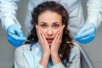 A nervous dental patient